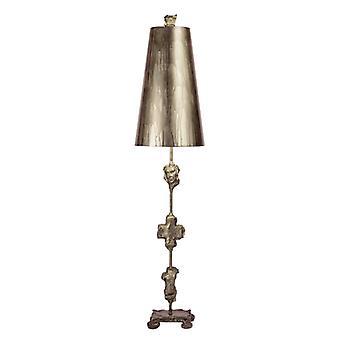Lámpara de mesa de plata de fragmento