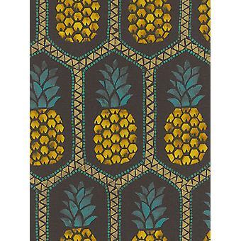 Pineapple wallpaper por Barbara Becker Rasch