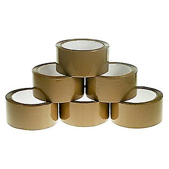 Olympia Brown Hotmelt Packing Tape (Pack de 6)