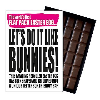 Funny Flat Easter Egg for Men Women Friend Silly Chocolate Greeting Card  IYF170
