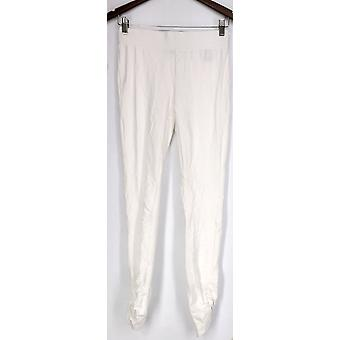 Slimming Options for Kate & Mallory Leggings Ruched Side White A426083