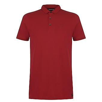 Firetrap Mens Beam Polo Slim Fit Shirt T-Shirt Top Kurzarm Button Placket