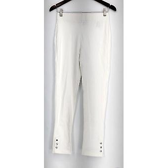 Slimming Options for Kate & Mallory Leggings Ankle Snaps White A434323