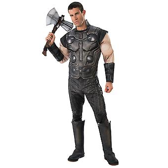 תור דה-לוקס שרירים מרוול הנוקמים אינפיניטי מלחמה הסופי גיבורי העל תלבושות Mens