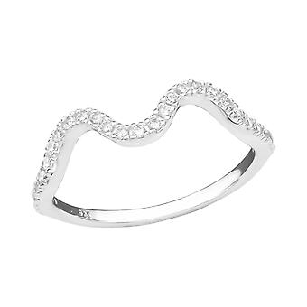 Welle - 925 Sterling Silber Jewelled Ringe - W36885X