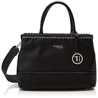 Trussardi Jeans Mimosa Tote Ooth Black Women's Bag 34x25x16.5 cm (W x H x L)