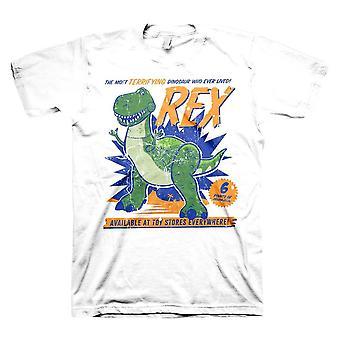Men's Toy Story 4 Rex the Dinosaur White T-Shirt