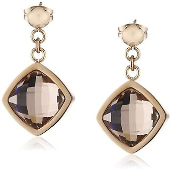 s.Oliver - Women's pendant earrings in stainless steel with crystal