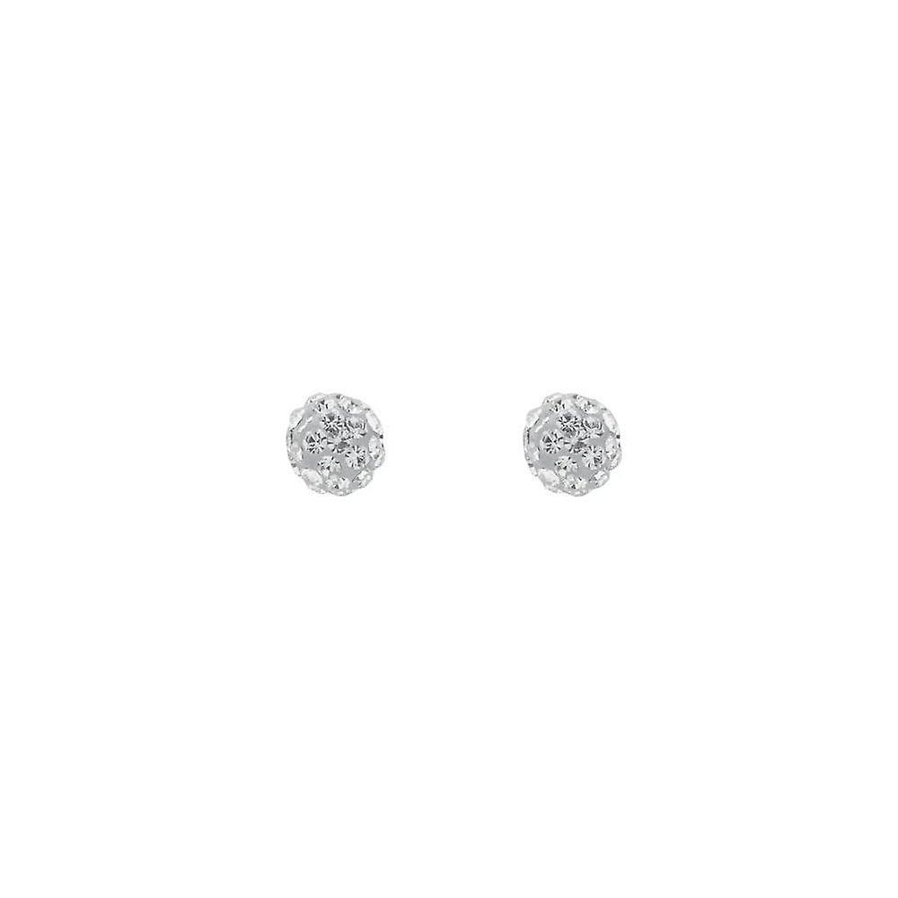 Eternity 9ct Gold 10mm Crystal Ball Stud Earrings