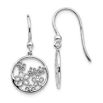 925 Sterling Silver White Ice .01ct Diamond Shepherd Hook Earrings Jewelry Gifts for Women