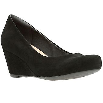 Clarks Flores Tulip Womens Wedge Court Shoes