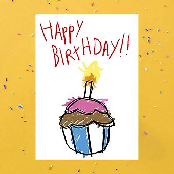 Buon compleanno Cupcake Greetings Card