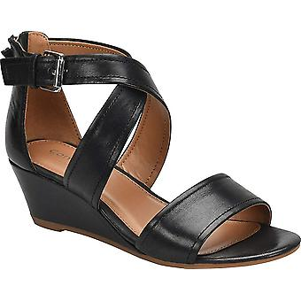 Comfortiva Womens Rabea Leather Open Toe Casual Platform Sandals