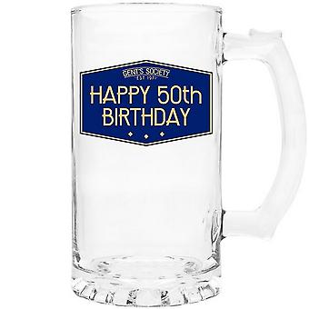 Lesser & Pavey Gents samhälle Happy 50th Tankard