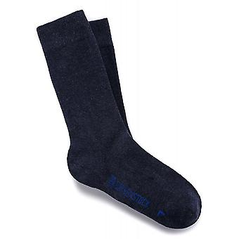 Birkenstock Herre bomuld sål sokker 1002582 jeans melange