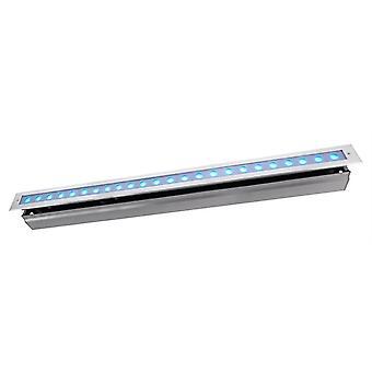 Lampa podłogowa LED wpuszczona linia VI RGB 42W 30° 1004 mm ściemniania srebrny IP67