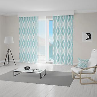Meesoz Curtain - Turquoise Diamonds II