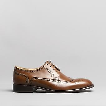 Anatomic & Co. Fernando Mens Leather Brogue Shoes Bronze