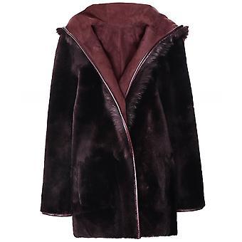Dom Goor Reversible Hooded Shearling Coat