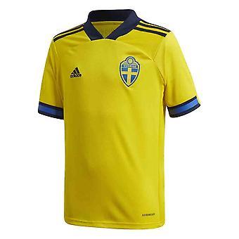 2020-2021 السويد الرئيسية أديداس لكرة القدم قميص (أطفال)
