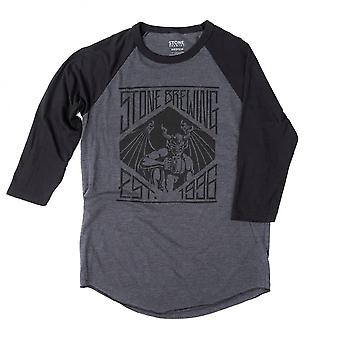 Stone Brewing Founded 1996 Men's Grey Raglan Sleeve Shirt