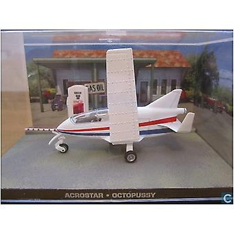 Acrostar Mini Jet Diecast Model Airplane from James Bond Octopussy