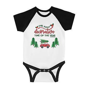Dekorative Weihnachtszeit lustige BKWT Baby Baseball Body X-mas Geschenk