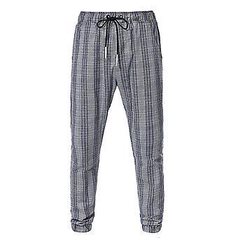 Allthemen Men-apos;s Casual Cool Drawstring Plaid Sport Black Capri-pantalon
