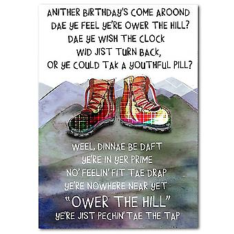 Embroidered Originals Ower The Hill Birthday Card