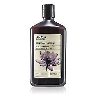 Ahava Mineral Botanic Velvet Cream Wash - Lotus Flower & Chestnut (Sensitive Skin) 500ml/17oz
