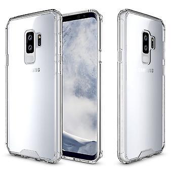 لسامسونج غالاكسي S9 PLUS القضية الخلفية، Shockproof غطاء درع شفاف دائم
