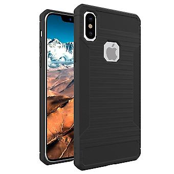 For iPhone XS,X Case,Styled Soft Brushed Texture Protective Cover,Grey