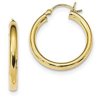 25,1 mm 925 Sterling Silber Gold Ton poliert Creolen Schmuck Geschenke für Frauen - 3,5 Gramm