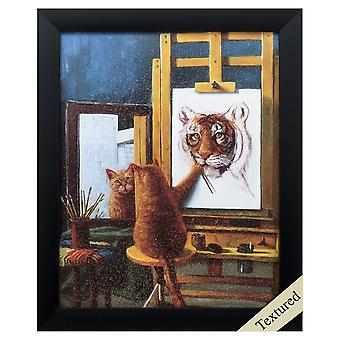"""9"""" X 11"""" Black Frame Norman Catwell"""