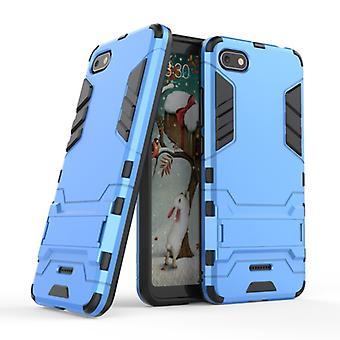 HATOLY iPhone 7-robotic Armor gevaldekking van CAS TPU Case blauw + Kickstand