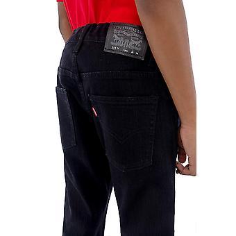 Levi's Boys' 556 Slim Fit Jeans, Black Stretch, 14