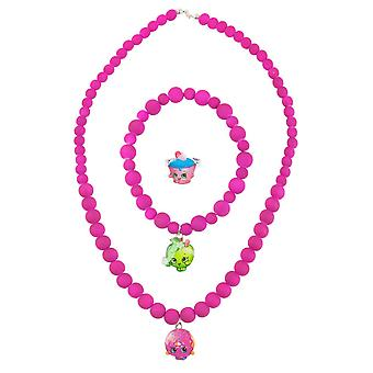 Shopkins Beaded Jewellery Necklace, Bracelet and Ring Set