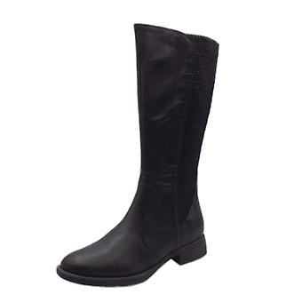 Jana Soft Line 25560 Muscovy Stylish Wide Fit Long Boot In Black