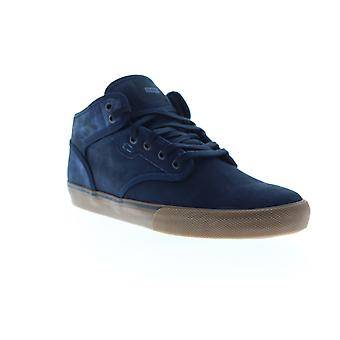 Globe Motley Mid  Mens Blue Suede Lace Up Athletic Skate Shoes