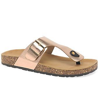 Lunar (GRS) Honor Womens Toe Post Mule Sandals