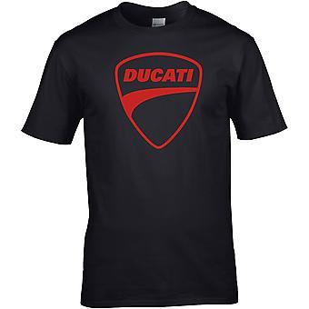 Ducati Logo Farbe - Motorrad Motorrad Biker - DTG gedruckt T-Shirt