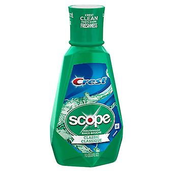 Crest plus scope classic mouthwash original formula, mint, 33.8 oz