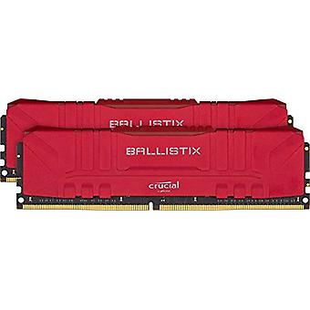 Crucial Ballistix BL2K8G30C15U4R 3000 MHz, DDR4, DRAM, Fixed Computer Gaming Kit, 16 GB (8 GB x2), CL15, Red