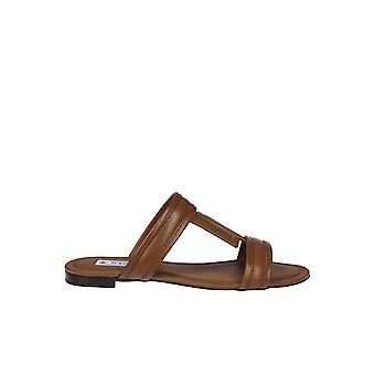 Tod's Ezgl027061 Women's Brown Leather Sandals