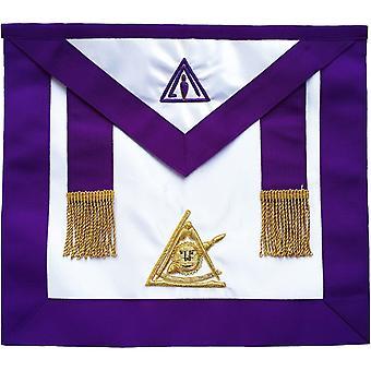 Masonic past thrice illustrious master ptim hand embroidered apron