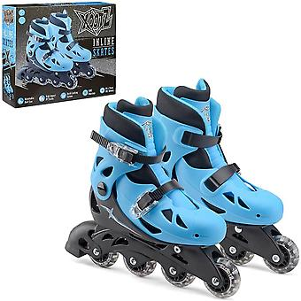 xootz small inlines roller skates blue/black