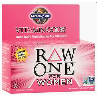 Garden of Life Vitamin Code Raw One para Mulheres 75 vcaps