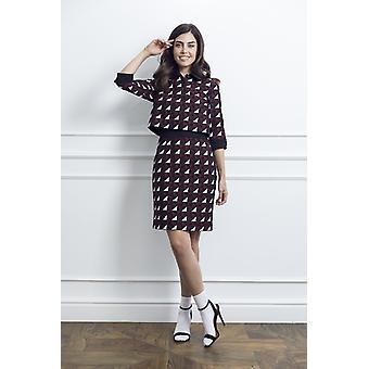 Geometric print woman dress