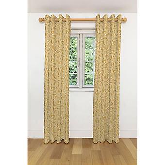 McAlister têxteis pequena folha de mostarda cortinas amarelas