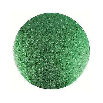 Culpitt 10-quot; (254mm) Double Thick Round Turn Edge Cake Cards Green Foil (3mm Thick)